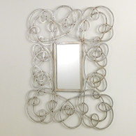 Whimsical Mirror Silver 32 x 40.25 x 1.25 Hang Vertical or horizonal