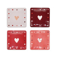 Kind Heart Square Plates