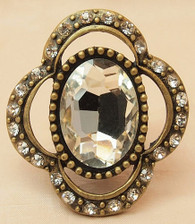 Vintage Candle Pin Cameo
