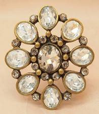 Vintage Candle Pin Clear Flower