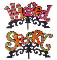"""SPOOKY"" AND ""WICKED"" SIGN ON BASE"