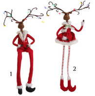 "20"" LIGHTED SITTING DEER COUPLE"