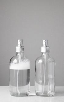 Apothecary Glass Mist Spray Bottle with Aluminum Sprayer