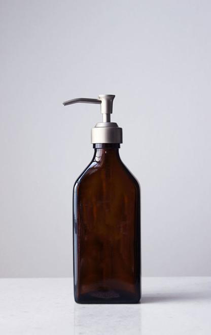 Barley + Rye Amber Glass Soap Dispenser
