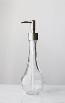 Rain Drop Recycled Glass Soap Dispenser