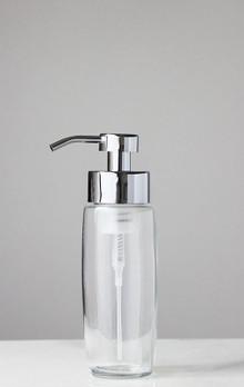 Large Glass Foam Soap Dispenser with Chrome Pump