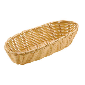 Oblong Polyrattan Bread Basket - 14 7/8 by 6, L 14.875 x W 6 x H 2.75