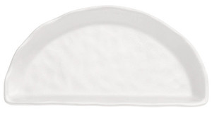Half-Moon Tray, Melamine, White