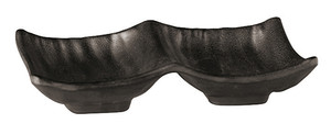 Double Dipping Dish, Melamine, Black