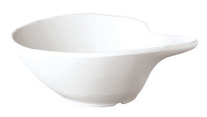 Comma-Shape Bowl, Melamine, White