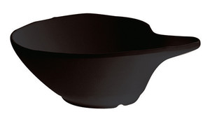 Comma-Shape Bowl, Melamine, Black