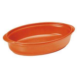 Ceramic Oval Baker Orange