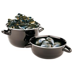 1.1 Pound Capacity Enamel Steel Mussel Pot, L 5.375 x W 5.375 x H 2