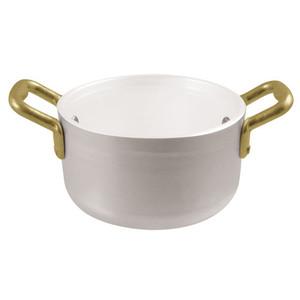 Mini Stew Pan, Alu+White, 16oz
