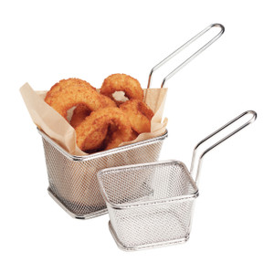 Mini Fry Basket with Handle, Stainless Steel, Large