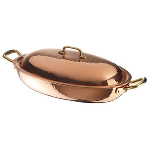 Oval Vegetable Pan Copper/Tin