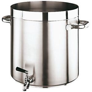 """Gd Gourmet Faucet Stock Pot, 12 1/2""""XH 12 1/2"""" 25 3/8QTS"""