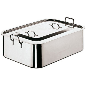 "Roasting Pan With Cover, L 19 5/8"" X w 11 7/8""XH 6"""
