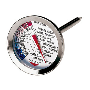 "Meat Roasting Thermometer, DIA 2"" X L 4 3/8"""