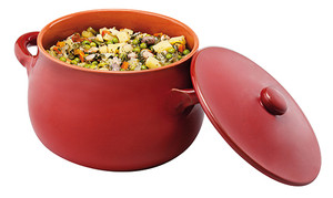 Stew Pot with Lid, Red