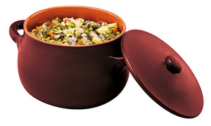 Stew Pot with Lid, Brown