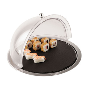 Dome Display with Slate Tray and S/S Base (use with item #41586-38), L 15 x W 15 x H 4