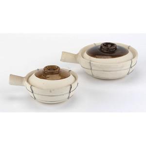 20 Oz Single-handled  Clay Cooking Pot , D 6.5  H 4
