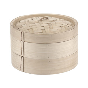 19 5/8 Bamboo Steamer Set (2+1), L 19.625 x W 19.625 x H 6.25