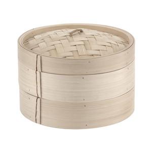 15 7/8 Bamboo Steamer Set (2+1), L 15.875 x W 15.875 x H 6.25
