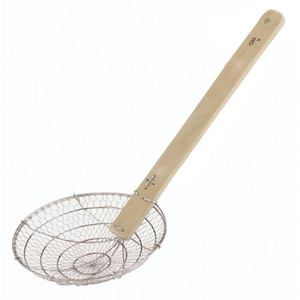 10 Long Chinese Deep Frying Skimmer - coarse mesh, L 10 x W 4 x H 1