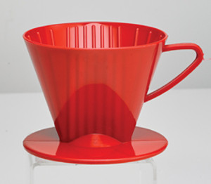 HIC Coffee Filter Cone, Red, 2 Cup