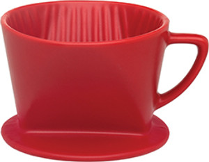 HIC Matte Red Filter Cone, 2 Cup