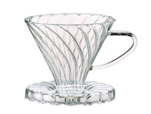 HIC Pour Over Coffee Borosilicate Glass Filter Cone