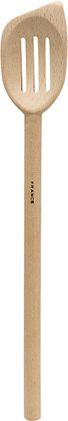 French Beechwood Slanted Slotted Spoon, 11.5in