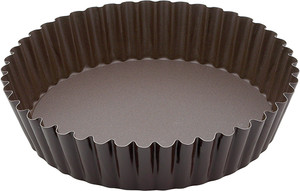 Gobel Non Stick Deep Quiche Pan with Removable Bottom, 10in