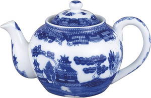 HIC Blue Willow Teapot with Infuser, 16oz