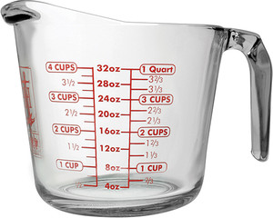 Anchor Glass Measuring Cup, 4 Cup