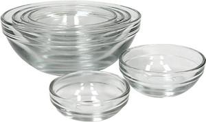 Anchor Glass Prep Bowls, Set of 6