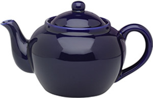 HIC Teapot with Infuser, Cobalt, 3 Cup, 16oz