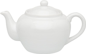 HIC Teapot with Infuser, White, 3 Cup, 16oz