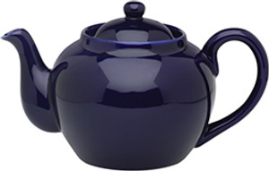 HIC Teapot with Infuser, Cobalt, 6 Cup, 32oz