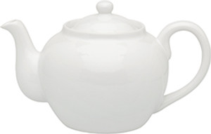 HIC Teapot with Infuser, White, 6 Cup, 32oz
