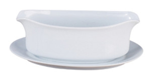 HIC Gravy Boat with Attached Saucer, 18oz
