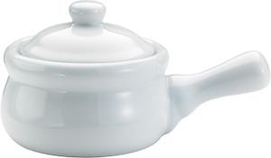 HIC Onion Soup Crock With Lid, Porcelain,14oz