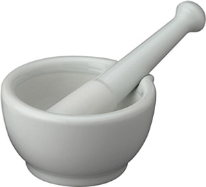 HIC Mortar and Pestle with Pour Spout