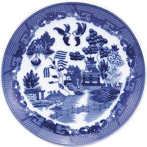 HIC Blue Willow Buffet Plate, 12.25in