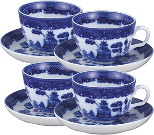 HIC Blue Willow Cup and Saucer Set
