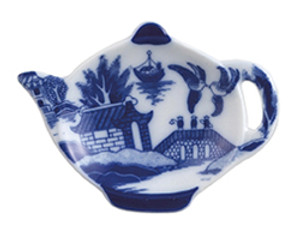 HIC Blue Willow Tea Caddy, Teapot, 4.5in