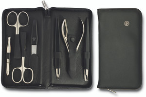 Eight Piece Black Manicure Set