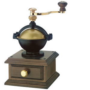 "Coffee Mill ""La Paz, dark stained beechwood, 5.7"" x 5.7"" x 9.2"""